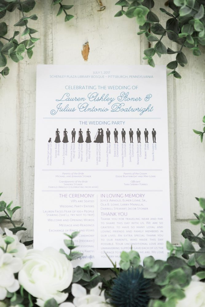 Wedding Ceremony Program: Fresh Vintage Inspired Wedding at the Twentieth Century Club from Levana Melamed Photography featured on Burgh Brides