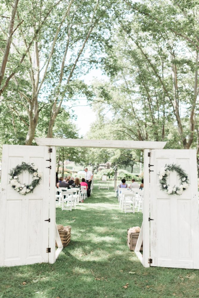 Outdoor Wedding Ceremony Decor: Fresh Vintage Inspired Wedding at the Twentieth Century Club from Levana Melamed Photography featured on Burgh Brides