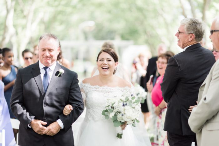 Bride Walking Down the Aisle: Fresh Vintage Inspired Wedding at the Twentieth Century Club from Levana Melamed Photography featured on Burgh Brides