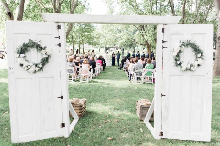 Vintage Wedding Ceremony Decor: Fresh Vintage Inspired Wedding at the Twentieth Century Club from Levana Melamed Photography featured on Burgh Brides