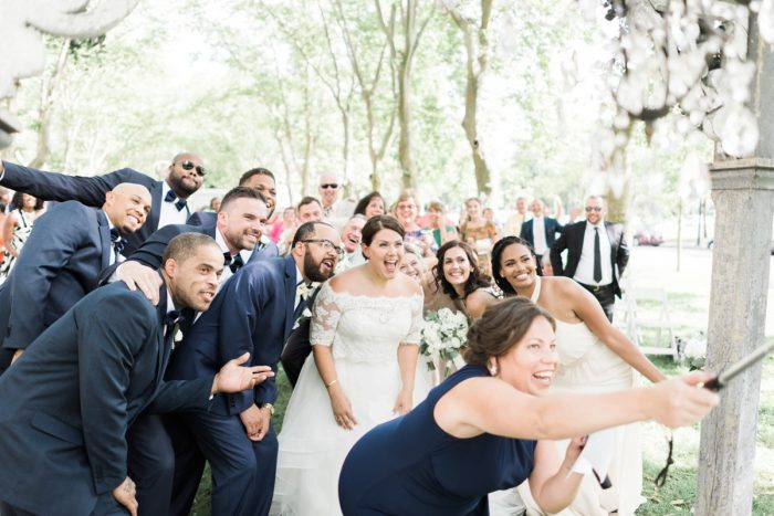 Wedding Day Selfie: Fresh Vintage Inspired Wedding at the Twentieth Century Club from Levana Melamed Photography featured on Burgh Brides