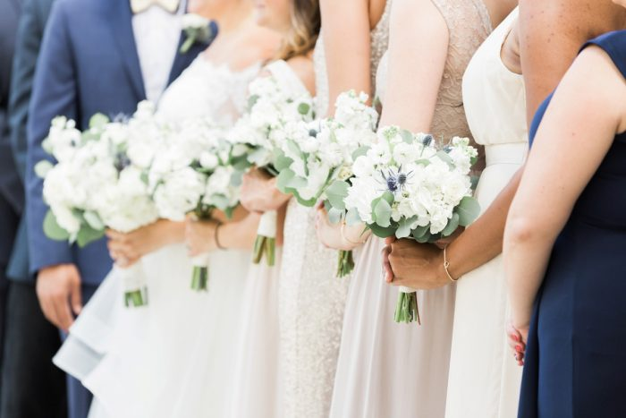 White and Green Wedding Bouquets: Fresh Vintage Inspired Wedding at the Twentieth Century Club from Levana Melamed Photography featured on Burgh Brides
