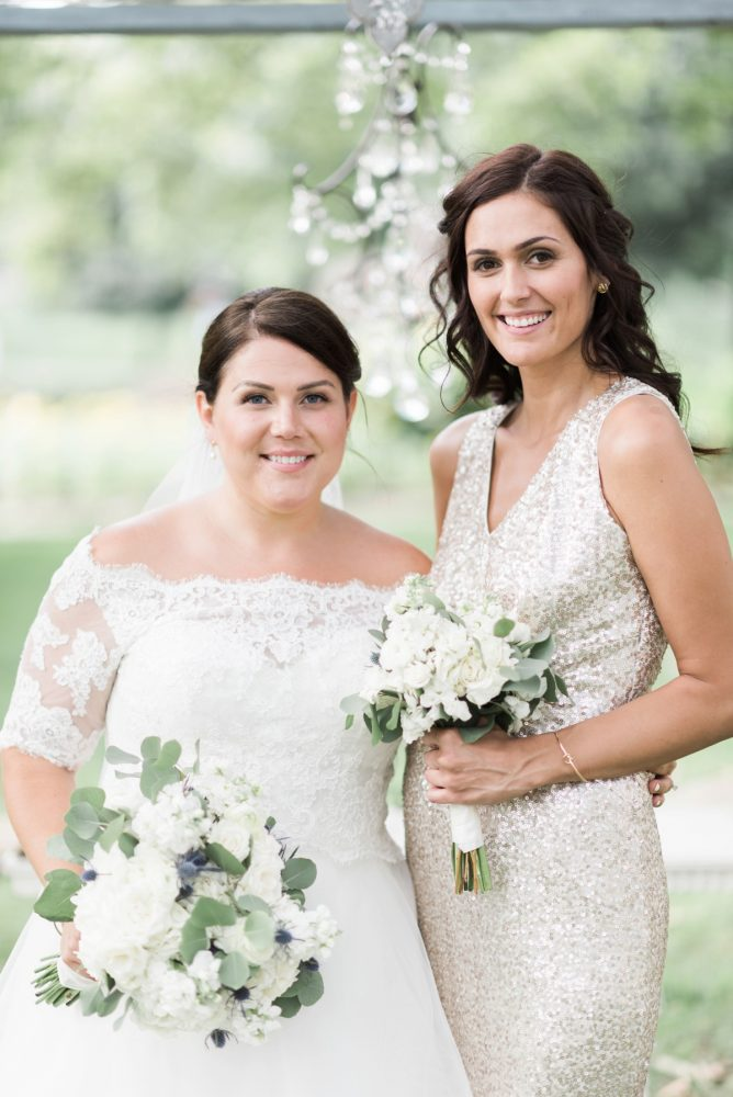 Champagne Bridesmaids Dresses: Fresh Vintage Inspired Wedding at the Twentieth Century Club from Levana Melamed Photography featured on Burgh Brides
