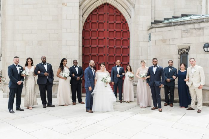 Champagne and Navy Wedding Colors: Fresh Vintage Inspired Wedding at the Twentieth Century Club from Levana Melamed Photography featured on Burgh Brides