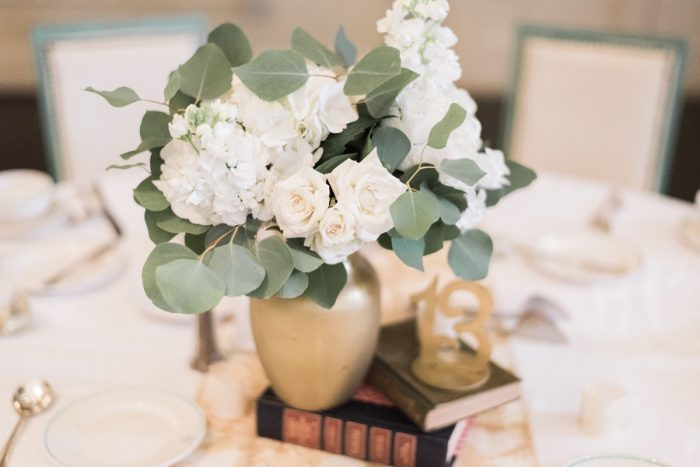 Vintage Wedding Centerpieces: Fresh Vintage Inspired Wedding at the Twentieth Century Club from Levana Melamed Photography featured on Burgh Brides