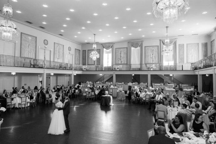 Bride and Groom First Dance: Fresh Vintage Inspired Wedding at the Twentieth Century Club from Levana Melamed Photography featured on Burgh Brides