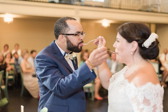 Wedding Cake Cutting: Fresh Vintage Inspired Wedding at the Twentieth Century Club from Levana Melamed Photography featured on Burgh Brides