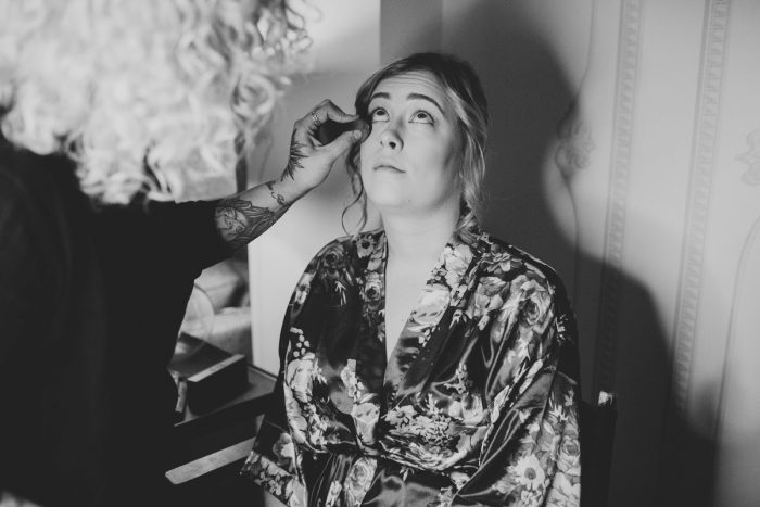 Bride Getting Ready: Small Eclectic Wedding at Smallman Galley from Caitlin Thomas Photography featured on Burgh Brides