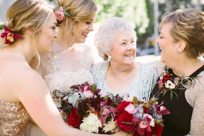 Three Generations with Bride at Wedding: Small Eclectic Wedding at Smallman Galley from Caitlin Thomas Photography featured on Burgh Brides