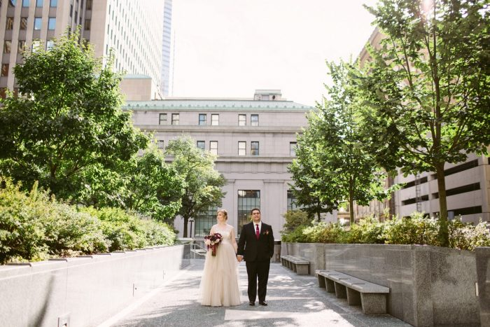 Urban Wedding Portraits: Small Eclectic Wedding at Smallman Galley from Caitlin Thomas Photography featured on Burgh Brides