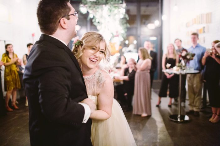 Small Eclectic Wedding at Smallman Galley from Caitlin Thomas Photography featured on Burgh Brides