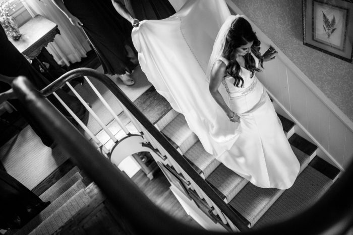 Bride Getting Ready: Vivid Fall Wedding at Shady Elms Farm from Jenna Hidinger Photography featured on Burgh Brides