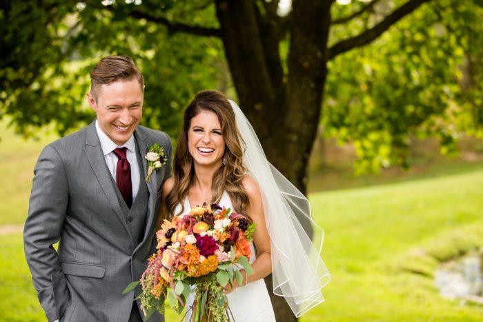 Fall Wedding Photos: Vivid Fall Wedding at Shady Elms Farm from Jenna Hidinger Photography featured on Burgh Brides