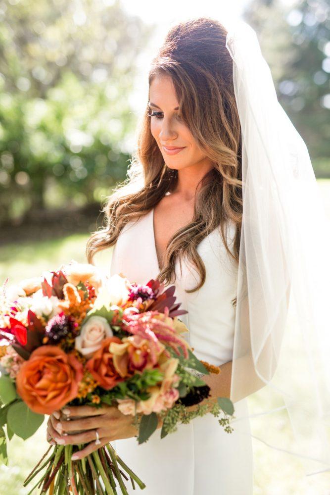 Fall Wedding Bouquet: Vivid Fall Wedding at Shady Elms Farm from Jenna Hidinger Photography featured on Burgh Brides