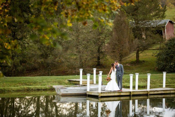 Romantic Wedding Photos: Vivid Fall Wedding at Shady Elms Farm from Jenna Hidinger Photography featured on Burgh Brides