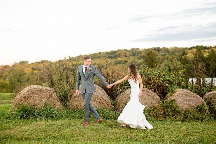 Rustic Wedding Portraits: Vivid Fall Wedding at Shady Elms Farm from Jenna Hidinger Photography featured on Burgh Brides
