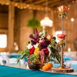 Fall Wedding Centerpieces: Vivid Fall Wedding at Shady Elms Farm from Jenna Hidinger Photography featured on Burgh Brides