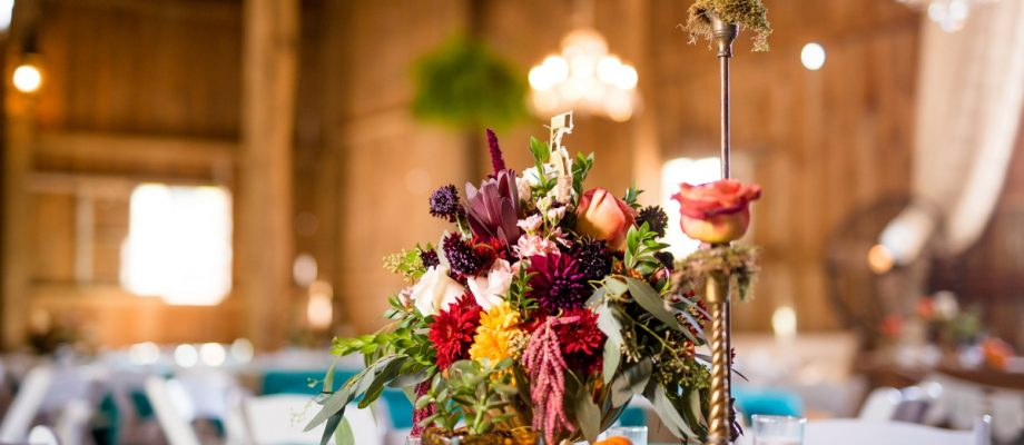 Vivid Fall Wedding at Shady Elms Farm