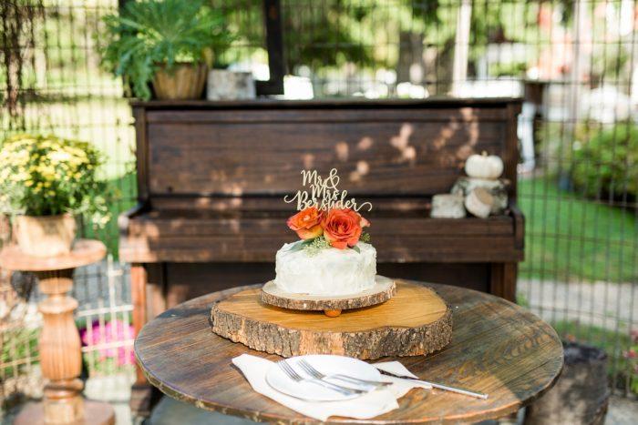 Buttercream Wedding Cake: Vivid Fall Wedding at Shady Elms Farm from Jenna Hidinger Photography featured on Burgh Brides