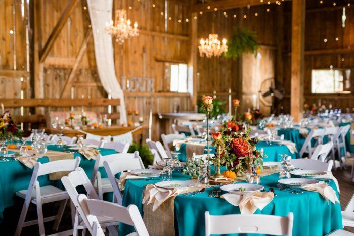 Barn Wedding Decor: Vivid Fall Wedding at Shady Elms Farm from Jenna Hidinger Photography featured on Burgh Brides