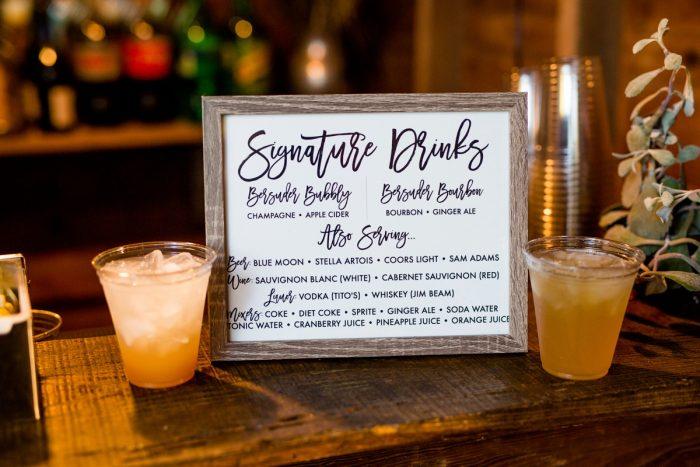 Wedding Signature Drinks: Vivid Fall Wedding at Shady Elms Farm from Jenna Hidinger Photography featured on Burgh Brides