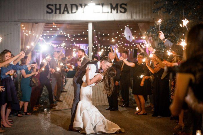 Wedding Fireworks Exit: Vivid Fall Wedding at Shady Elms Farm from Jenna Hidinger Photography featured on Burgh Brides