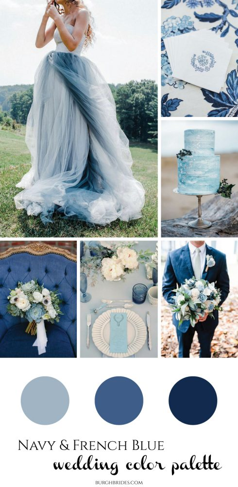 Navy French Blue Wedding Inspiration From Burgh Brides