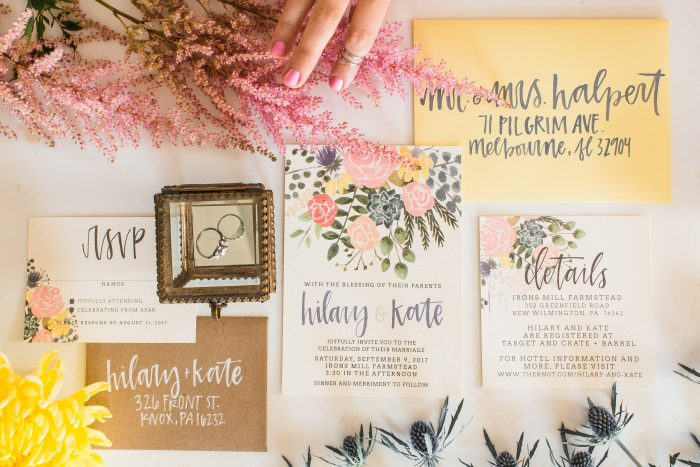 Get to know the latest Pittsburgh wedding stationery designer to join the Burgh Brides Vendor Guide - Oh Joyful Day!