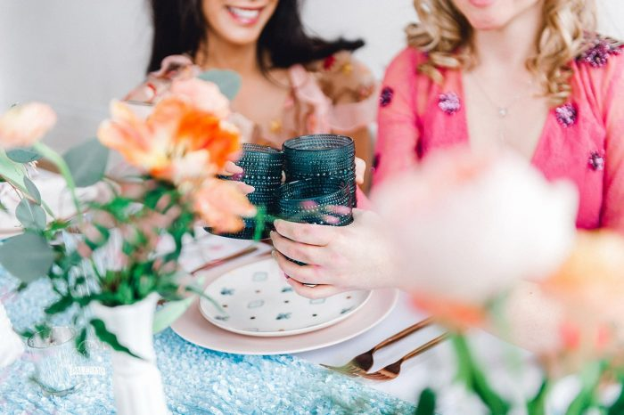 Bridesmaids Cheersing over Brunch: Blowouts, Bubbly, & Brunch Bridal Shower Inspiration from Jessica Garda Events and Palermo Photography featured on Burgh Brides
