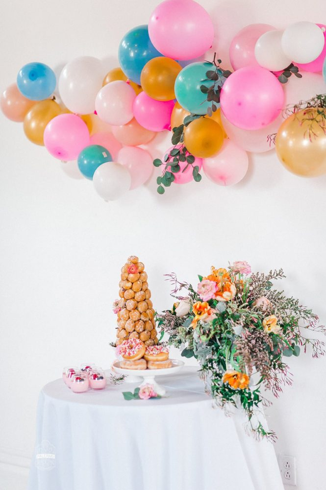 Bridal Shower Dessert Display: Blowouts, Bubbly, & Brunch Bridal Shower Inspiration from Jessica Garda Events and Palermo Photography featured on Burgh Brides