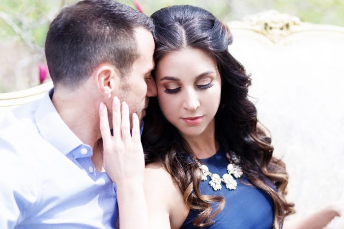 Dreamy Mellon Park Engagement Session from Angie Candel Photography featured on Burgh Brides