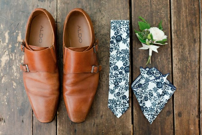 Floral Tie and Pocket Square for Groom: Fresh Garden Party Wedding Inspiration from Jackson Signature Photography & Joy Filled Occasions featured on Burgh Brides