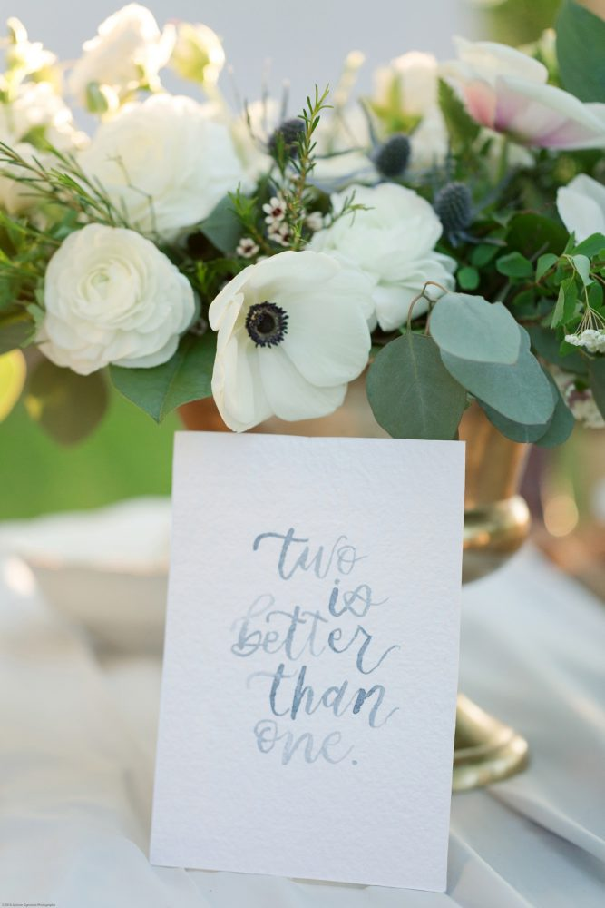 Hand Lettered Sign at Wedding: Fresh Garden Party Wedding Inspiration from Jackson Signature Photography & Joy Filled Occasions featured on Burgh Brides