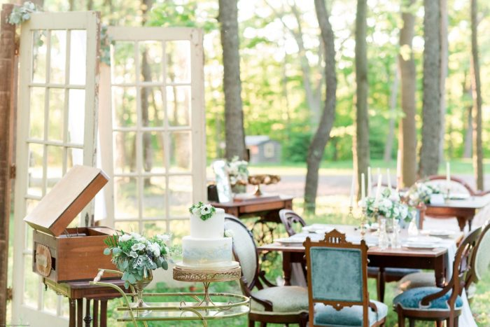 Vintage Wooden Wedding Decor: Fresh Garden Party Wedding Inspiration from Jackson Signature Photography & Joy Filled Occasions featured on Burgh Brides