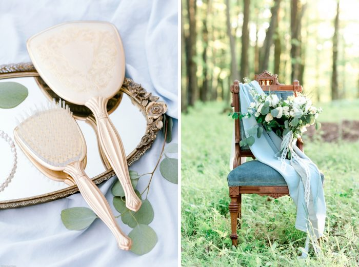 Dusty Blue and Gold Wedding Details: Fresh Garden Party Wedding Inspiration from Jackson Signature Photography & Joy Filled Occasions featured on Burgh Brides