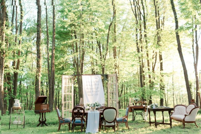 Vintage Furniture as Wedding Decor: Fresh Garden Party Wedding Inspiration from Jackson Signature Photography & Joy Filled Occasions featured on Burgh Brides