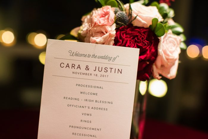 Wedding Stationery at Lush Blue & Burgundy Wedding at the Heinz History Center from Christina Montemurro Photography featured on Burgh Brides