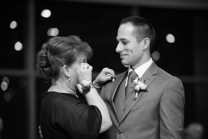 Groom and Mother of the Groom Dance: Lush Blue & Burgundy Wedding at the Heinz History Center from Christina Montemurro Photography featured on Burgh Brides