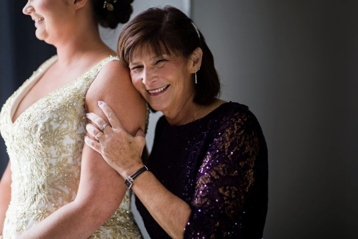 Bride and Mother of Bride on Wedding Day: Parisian Inspired Wedding at the LeMont from Kristen Wynn Photography featured on Burgh Brides