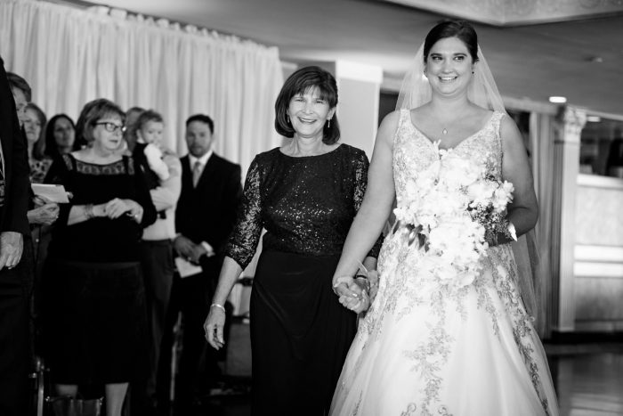 Mother of Bride Walking Bride Down the Aisle: Parisian Inspired Wedding at the LeMont from Kristen Wynn Photography featured on Burgh Brides