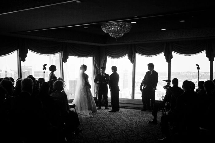 Wedding Ceremony at LeMont: Parisian Inspired Wedding at the LeMont from Kristen Wynn Photography featured on Burgh Brides