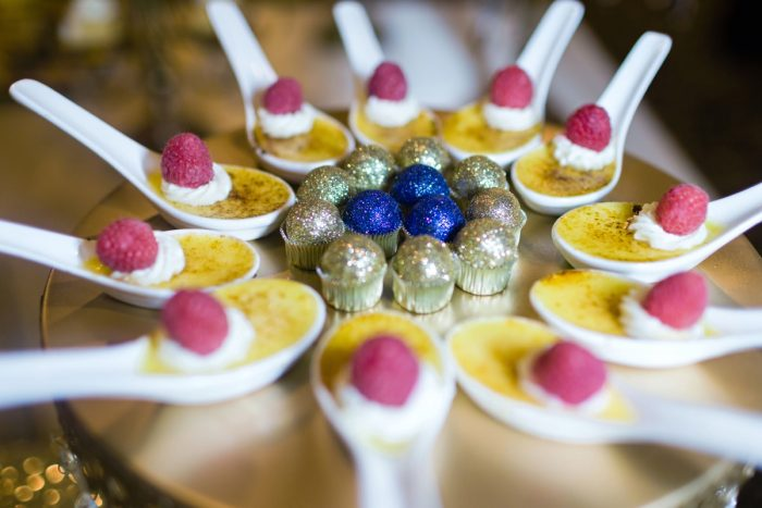 Glitter Bon Bons and Mini Creme Brulee Wedding Desserts: Parisian Inspired Wedding at the LeMont from Kristen Wynn Photography featured on Burgh Brides