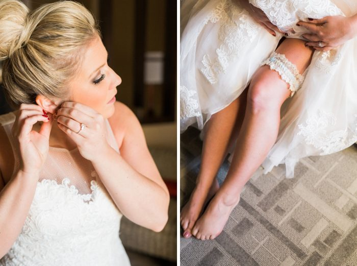 Bride Top Knot and Wedding Garter: Warm & Romantic Winter Wedding at Duquesne from Loren DeMarco Photography featured on Burgh Brides