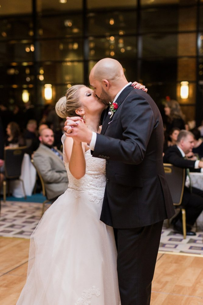 Bride and Groom First Dance: Warm & Romantic Winter Wedding at Duquesne from Loren DeMarco Photography featured on Burgh Brides