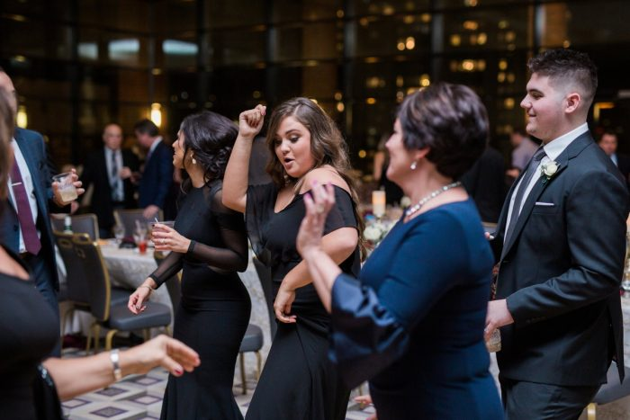 Wedding Dance Floor: Warm & Romantic Winter Wedding at Duquesne from Loren DeMarco Photography featured on Burgh Brides