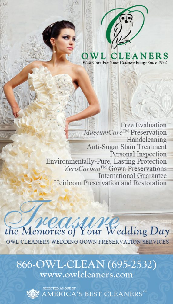 Owl Cleaners & Pittsburgh Gown Preservation - Pittsburgh Wedding Dress Cleaners & Burgh Brides Vendor Guide Member