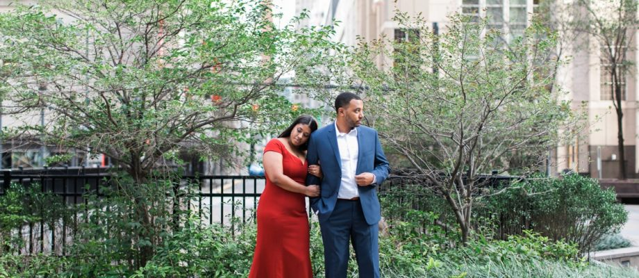 Dressy Downtown Pittsburgh Engagement Session