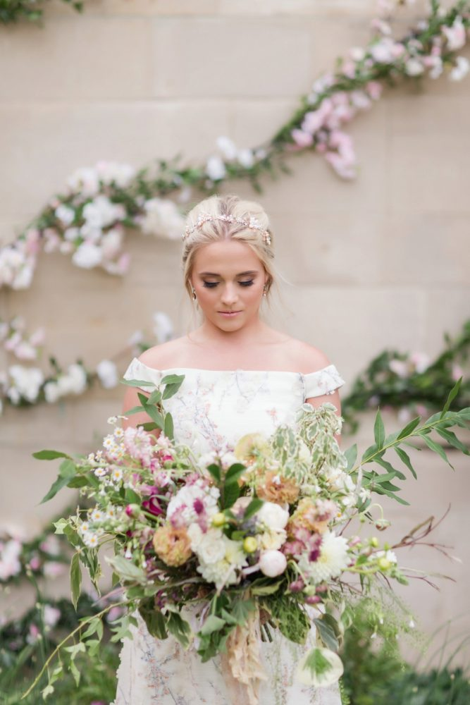 Big Bridal Bouquet: English Garden Wedding Inspiration from Hello Productions and April Smith Photography featured on Burgh Brides