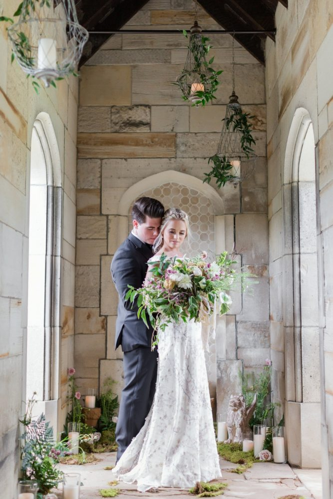 Hartwood Acres portrait session: English Garden Wedding Inspiration from Hello Productions and April Smith Photography featured on Burgh Brides