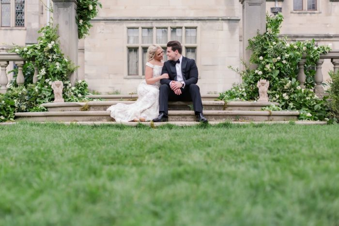 Bride and groom at Hartwood Acres: English Garden Wedding Inspiration from Hello Productions and April Smith Photography featured on Burgh Brides